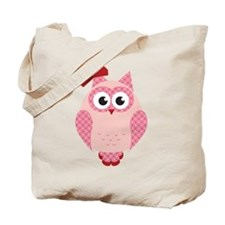 Owl with Bow Tote Bag