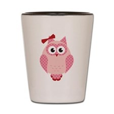 Owl with Bow Shot Glass