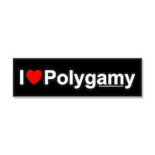 Polygamy Car Magnet 10 x 3
