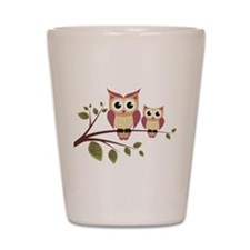 Duo of Owls Shot Glass
