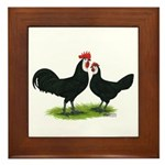 Whitefaced Spanish Chickens Framed Tile