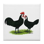 Whitefaced Spanish Chickens Tile Coaster