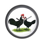 Whitefaced Spanish Chickens Wall Clock
