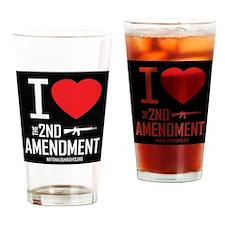 2nd amendment love Drinking Glass