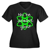 No, he doesn't glow-Nuke (bla Women's Plus Size V-