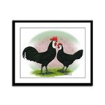 Whitefaced Spanish Chickens2 Framed Panel Print