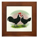 Whitefaced Spanish Chickens2 Framed Tile