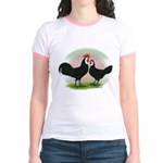 Whitefaced Spanish Chickens2 Jr. Ringer T-Shirt