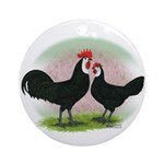 Whitefaced Spanish Chickens2 Ornament (Round)