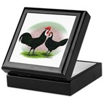 Whitefaced Spanish Chickens2 Keepsake Box