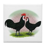Whitefaced Spanish Chickens2 Tile Coaster