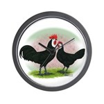 Whitefaced Spanish Chickens2 Wall Clock