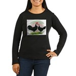 Whitefaced Spanish Chickens2 Women's Long Sleeve D