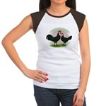 Whitefaced Spanish Chickens2 Women's Cap Sleeve T-