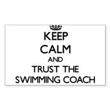 Keep Calm and Trust the Swimming Coach Decal
