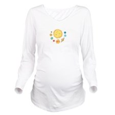 SOLAR SYSTEM Long Sleeve Maternity T-Shirt