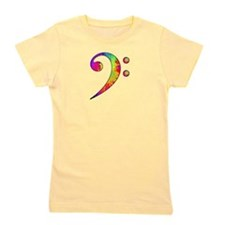 Bass Clef - paint splattered Girl's Tee