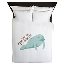 Save The Manatees Queen Duvet