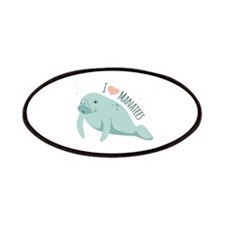 I love Manatees Patches