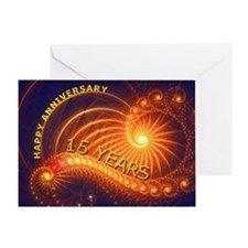 15th anniversary card, swirling lights Greeting Ca