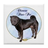 Shar Pei Portrait Tile Coaster