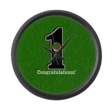 Customized Lucky Golf Hole in One Large Wall Clock