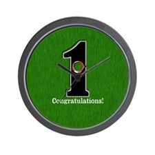 Customized Lucky Golf Hole in One Wall Clock