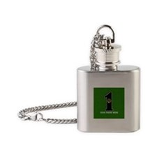 Customized Lucky Golf Hole in One Flask Necklace