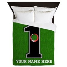 Customized Lucky Golf Hole in One Queen Duvet