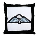 Kuwait Paratrooper Throw Pillow