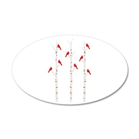 Cardinals in Trees Wall Decal