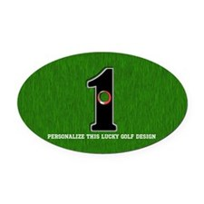 Customized Lucky Golf Hole in One Oval Car Magnet