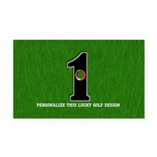 Customized Lucky Golf Hole in Rectangle Car Magnet