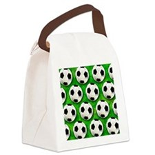 Soccer Ball Football Pattern Canvas Lunch Bag