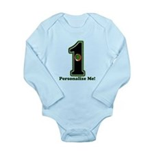 Customized Lucky Golf Long Sleeve Infant Bodysuit