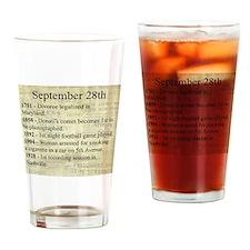 September 28th Drinking Glass