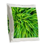 Grass Burlap Throw Pillow
