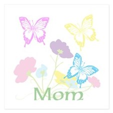 Personalize mom Flowers & B 5.25 x 5.25 Flat Cards