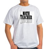 Math Teacher Ash Grey T-Shirt