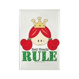 Red Heads Rule Rectangle Magnet