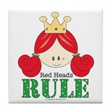 Red Heads Rule Tile Coaster