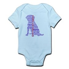 4 Paws Blue Red Infant Bodysuit
