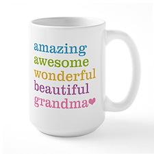 Amazing Grandma Large Mug