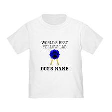 Worlds Best Yellow Lab (Custom) T-Shirt