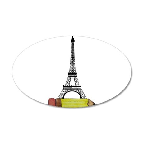 Eiffel Tower on Pencil Wall Decal