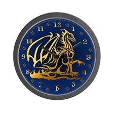 The Golden Dragon Wall Clock