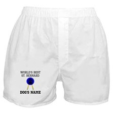 Worlds Best St. Bernard (Custom) Boxer Shorts