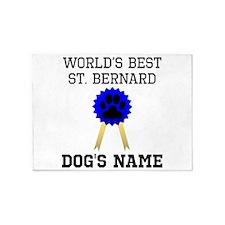 Worlds Best St. Bernard (Custom) 5'x7'Area Rug
