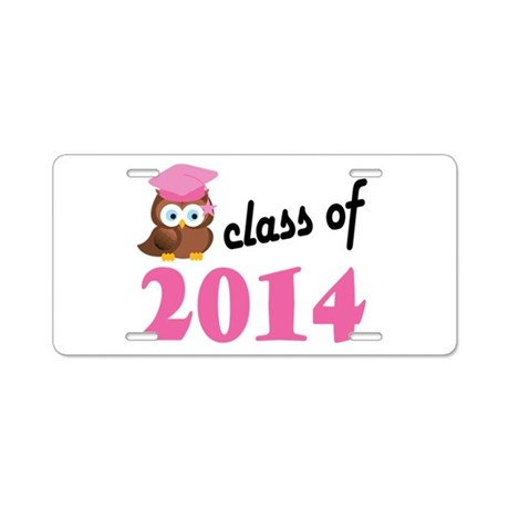 Class of 2014 (Owl) Aluminum License Plate