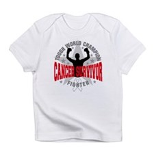 Mesothelioma Cancer Tough Survivor Infant T-Shirt